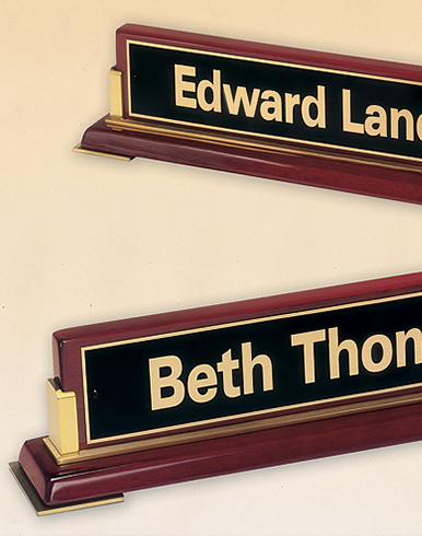 Gold Metal Accent Nameplate